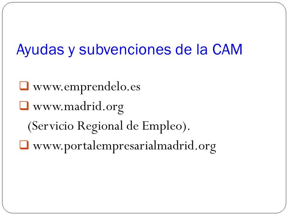 Ayudas y subvenciones de la CAM