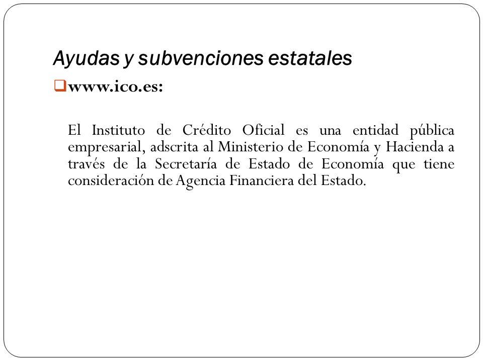 Ayudas y subvenciones estatales