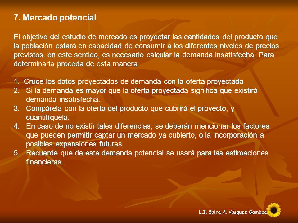 7. Mercado potencial