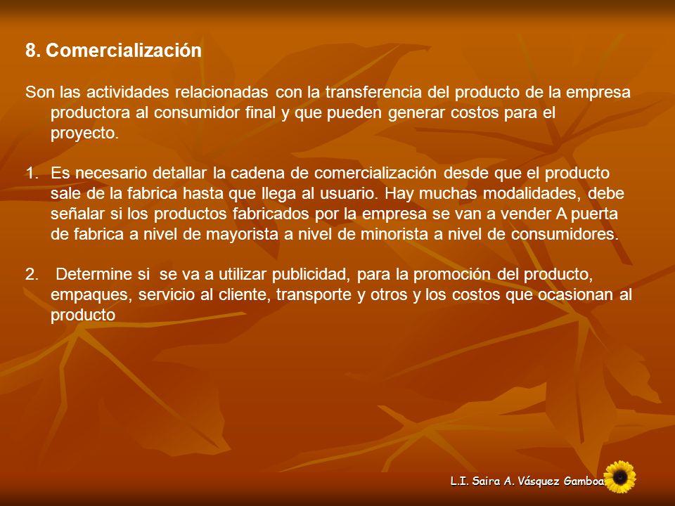 8. Comercialización