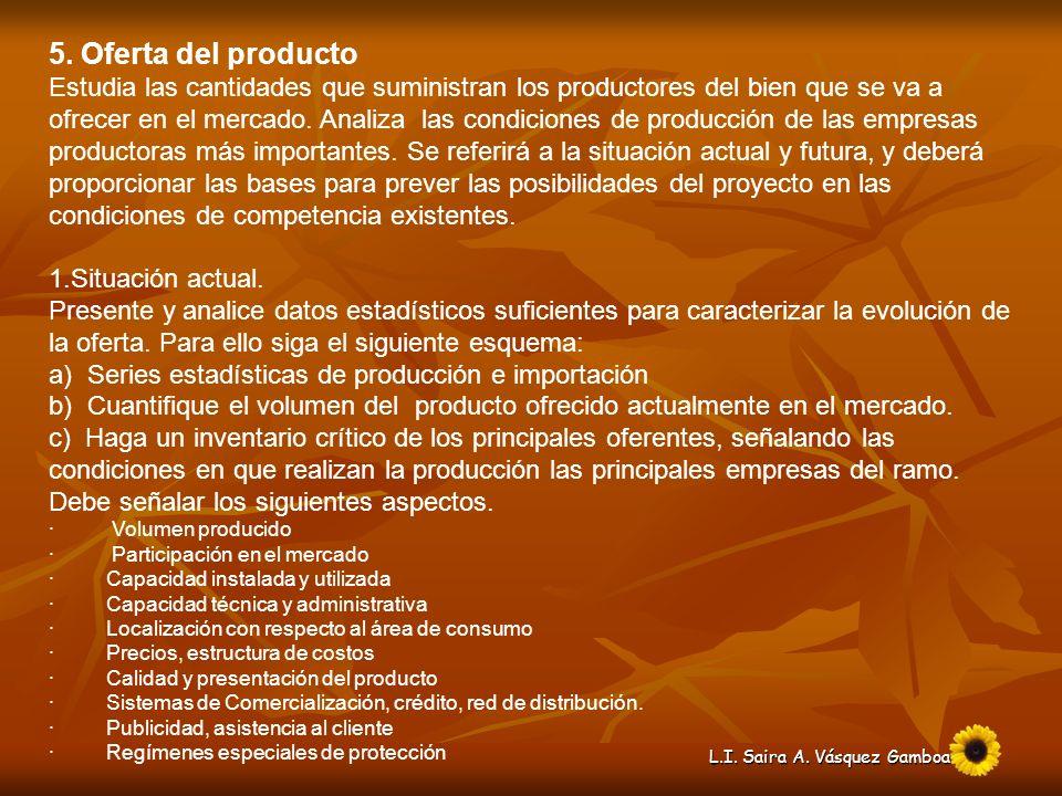 5. Oferta del producto