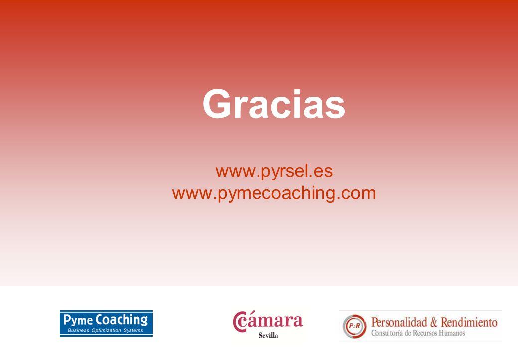 Gracias www.pyrsel.es www.pymecoaching.com