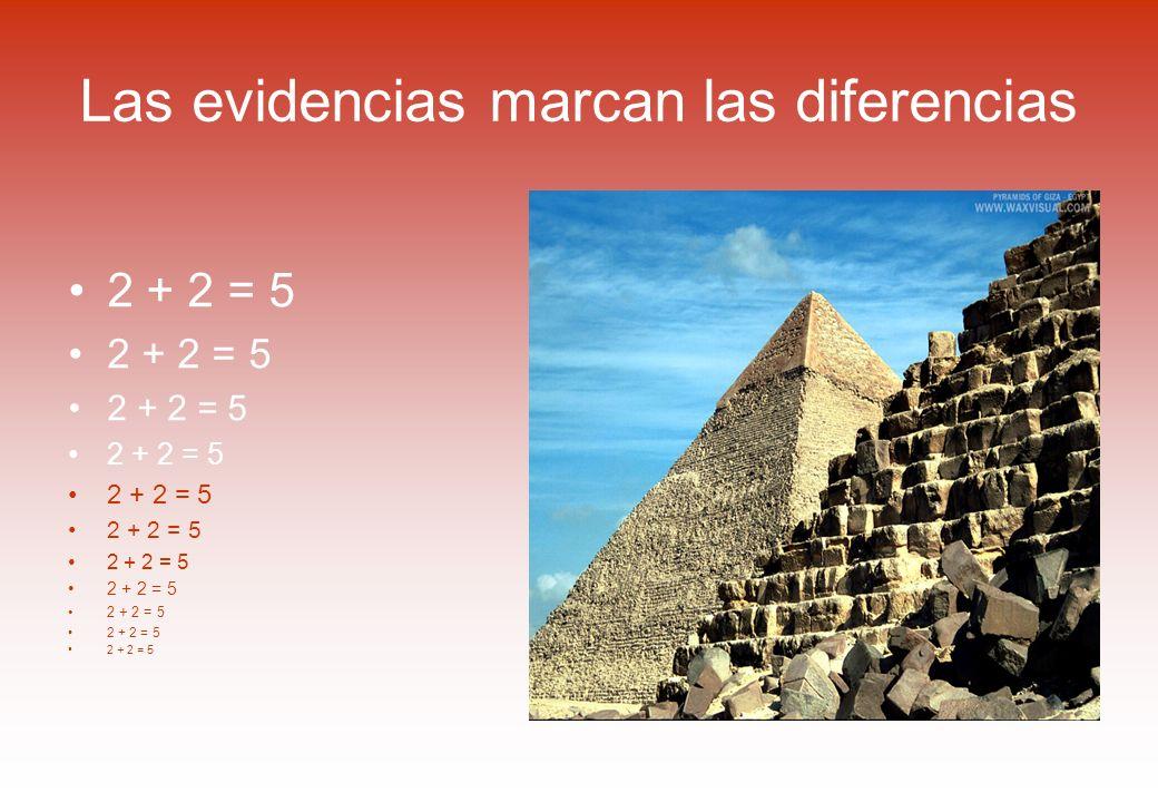 Las evidencias marcan las diferencias