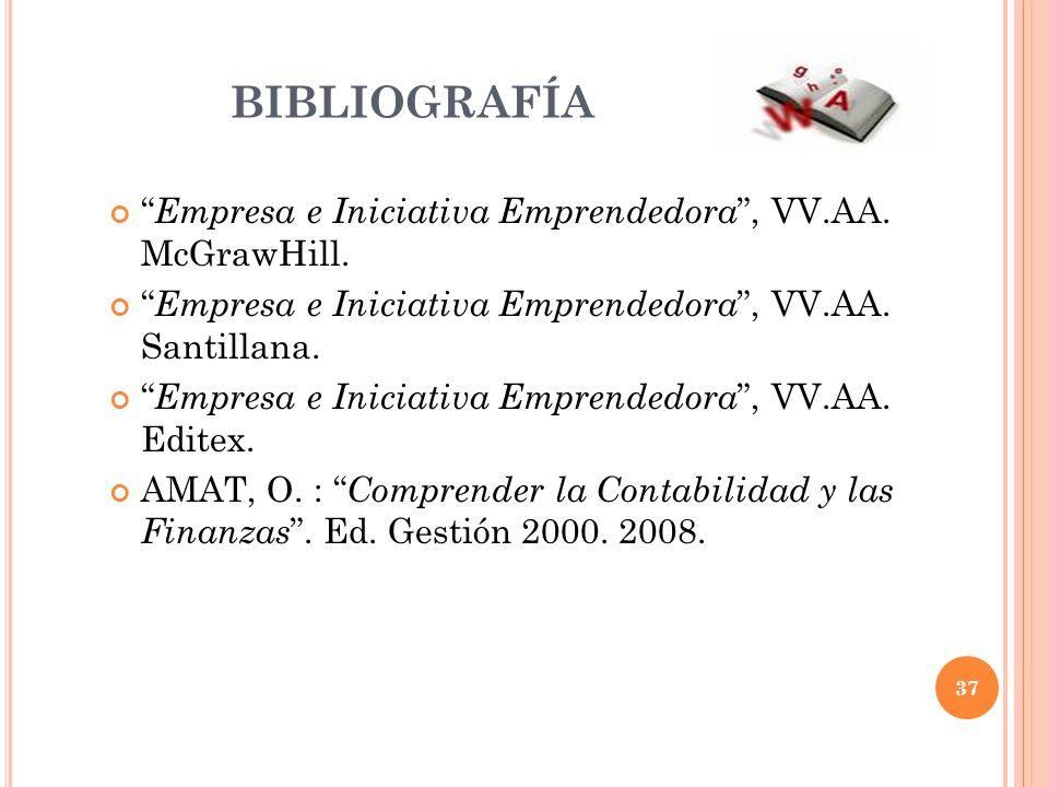BIBLIOGRAFÍA Empresa e Iniciativa Emprendedora , VV.AA. McGrawHill.