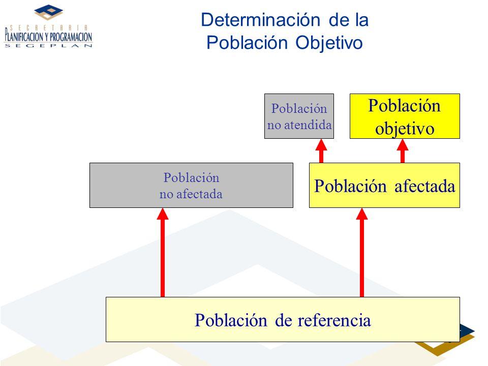 Determinación de la Población Objetivo