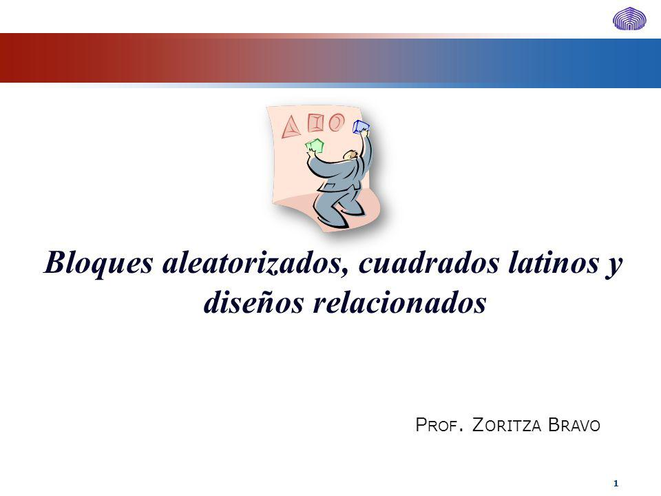 Bloques aleatorizados, cuadrados latinos y diseños relacionados