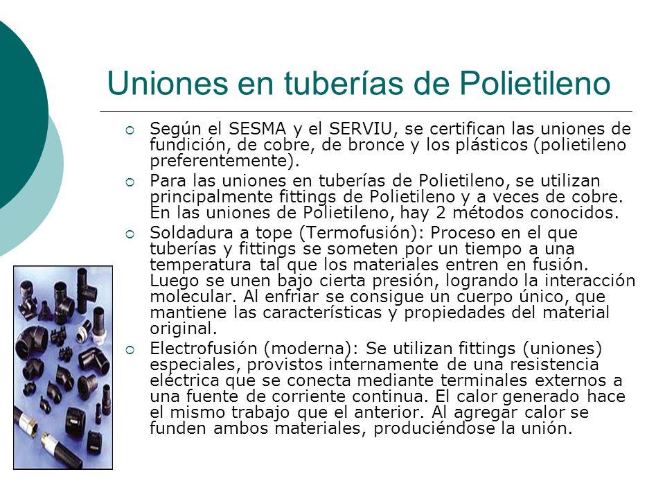 Uniones en tuberías de Polietileno