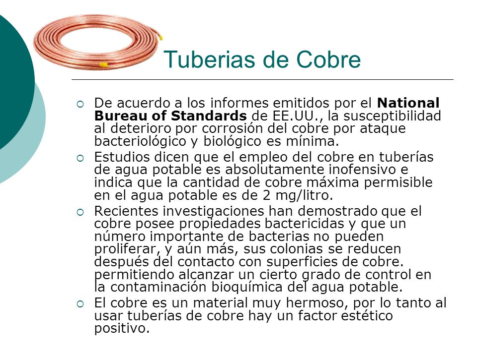 Tuberias de Cobre