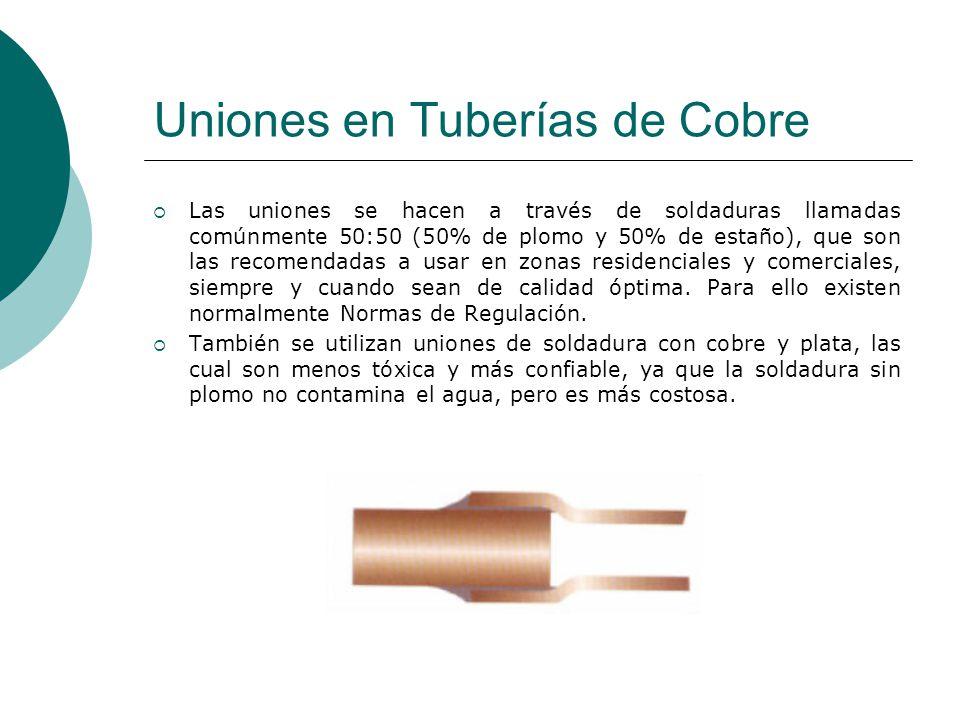 Uniones en Tuberías de Cobre