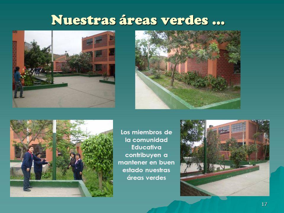 Nuestras áreas verdes …