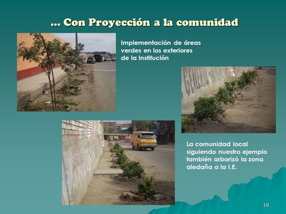 … Con Proyección a la comunidad