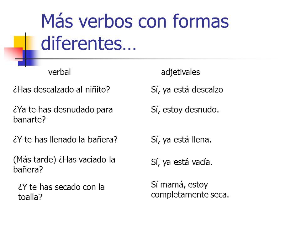 Más verbos con formas diferentes…