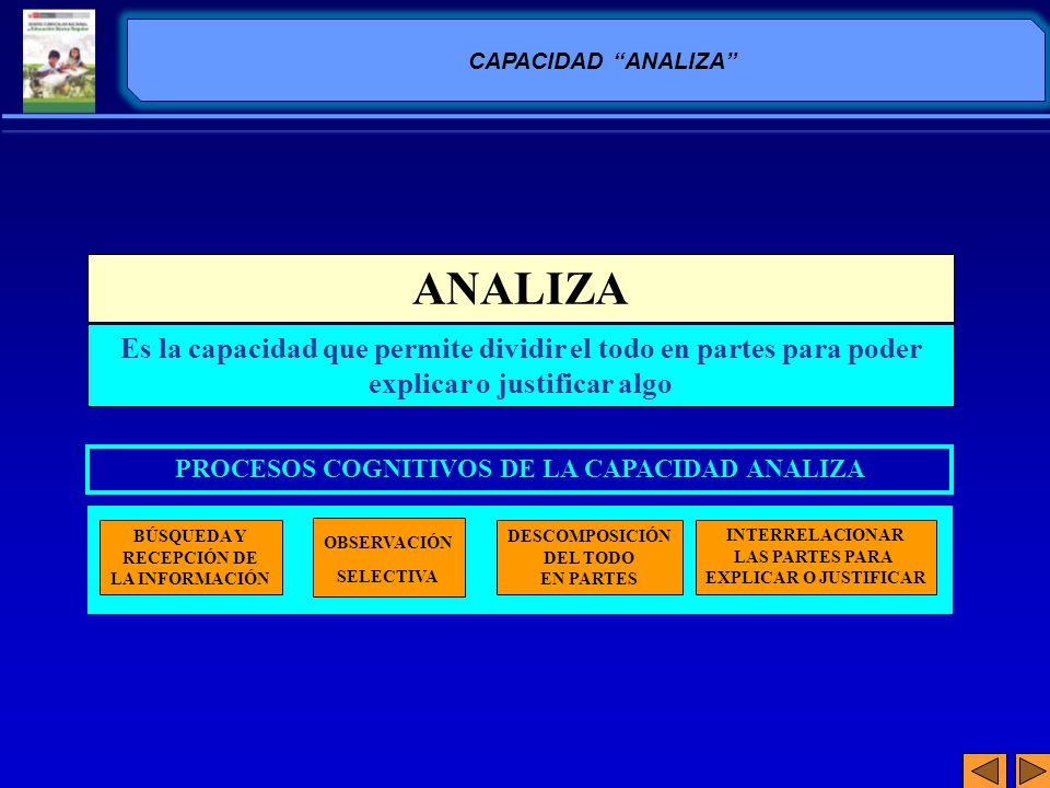 PROCESOS COGNITIVOS DE LA CAPACIDAD ANALIZA
