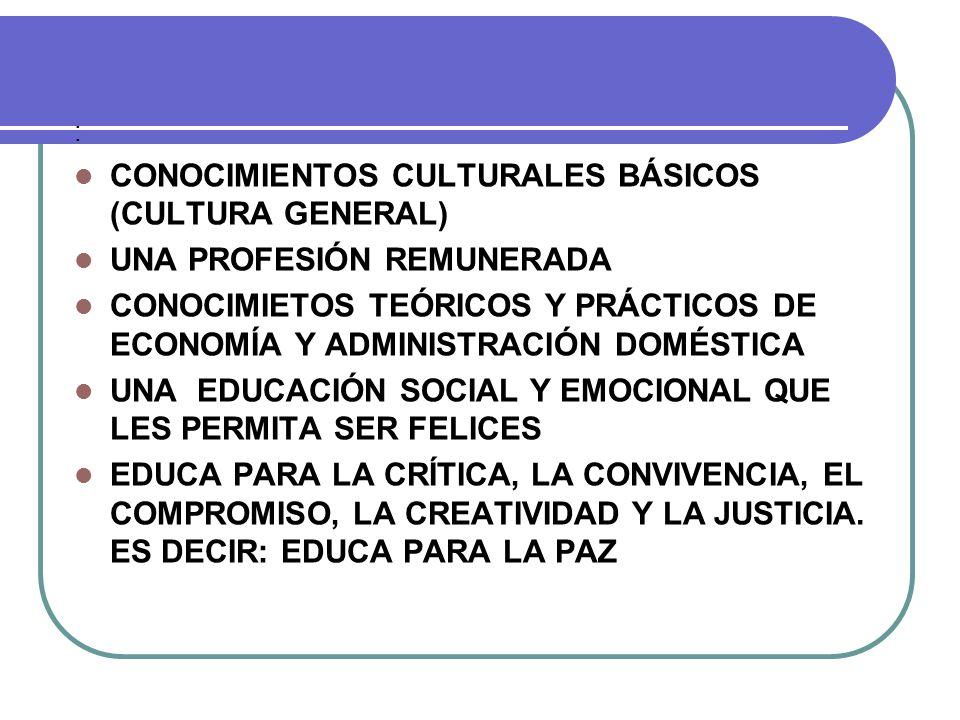 CONOCIMIENTOS CULTURALES BÁSICOS (CULTURA GENERAL)