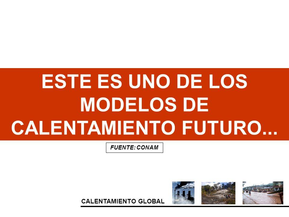 ESTE ES UNO DE LOS MODELOS DE CALENTAMIENTO FUTURO...