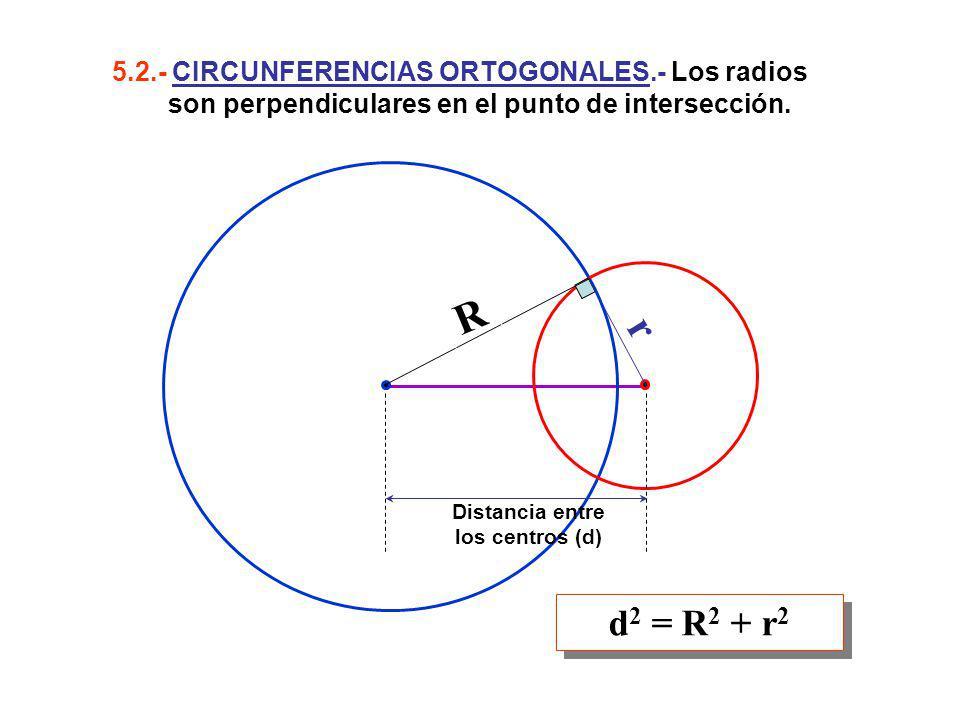 5. 2. - CIRCUNFERENCIAS ORTOGONALES