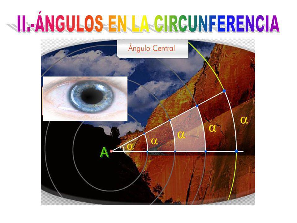 II.-ÁNGULOS EN LA CIRCUNFERENCIA