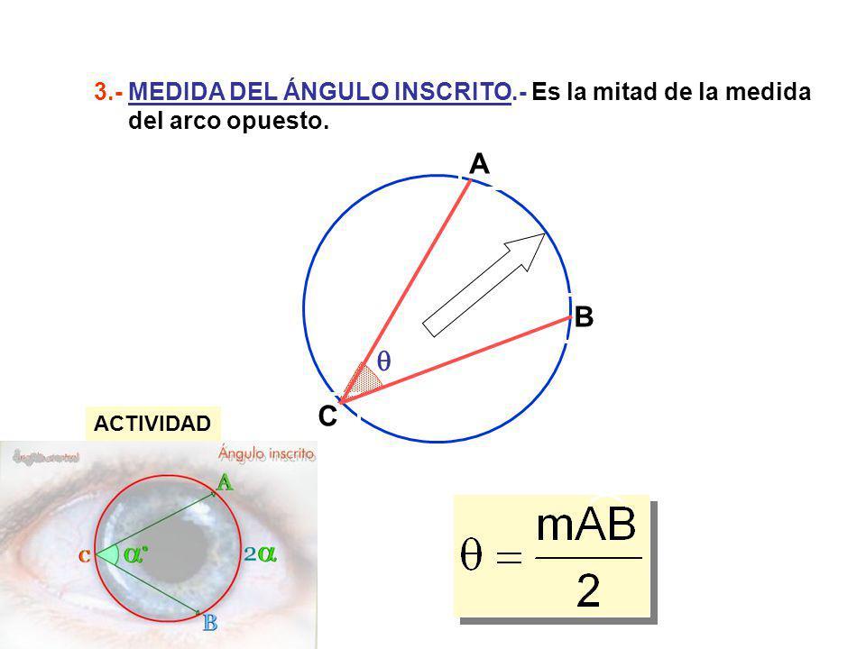 3. - MEDIDA DEL ÁNGULO INSCRITO