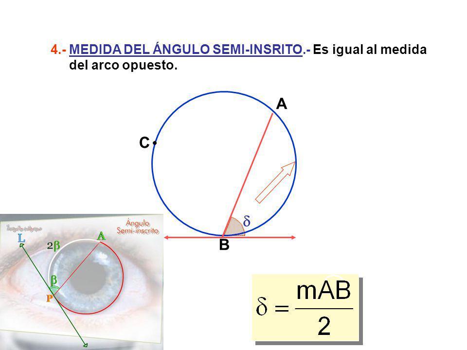 4. - MEDIDA DEL ÁNGULO SEMI-INSRITO