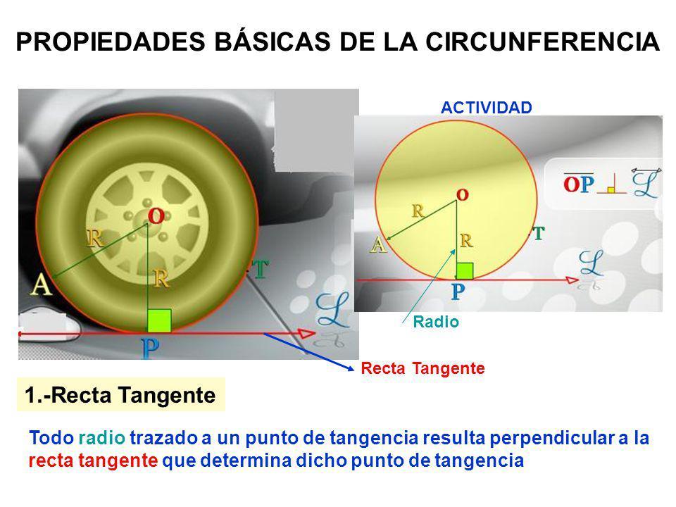 PROPIEDADES BÁSICAS DE LA CIRCUNFERENCIA