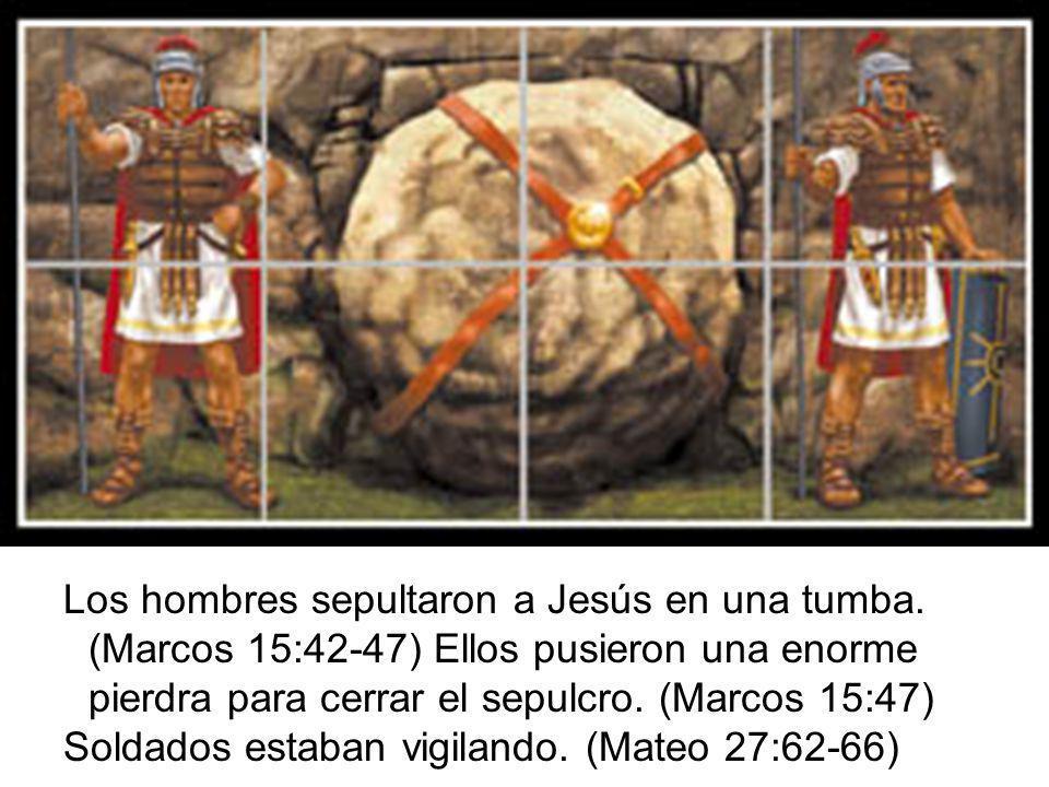 Los hombres sepultaron a Jesús en una tumba