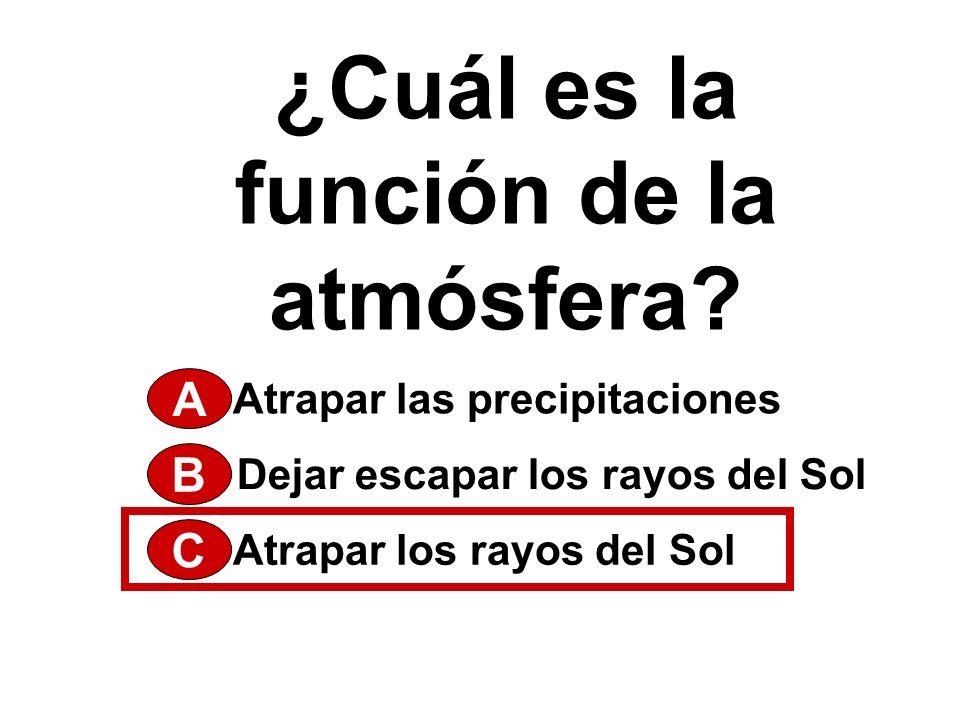 ¿Cuál es la función de la atmósfera