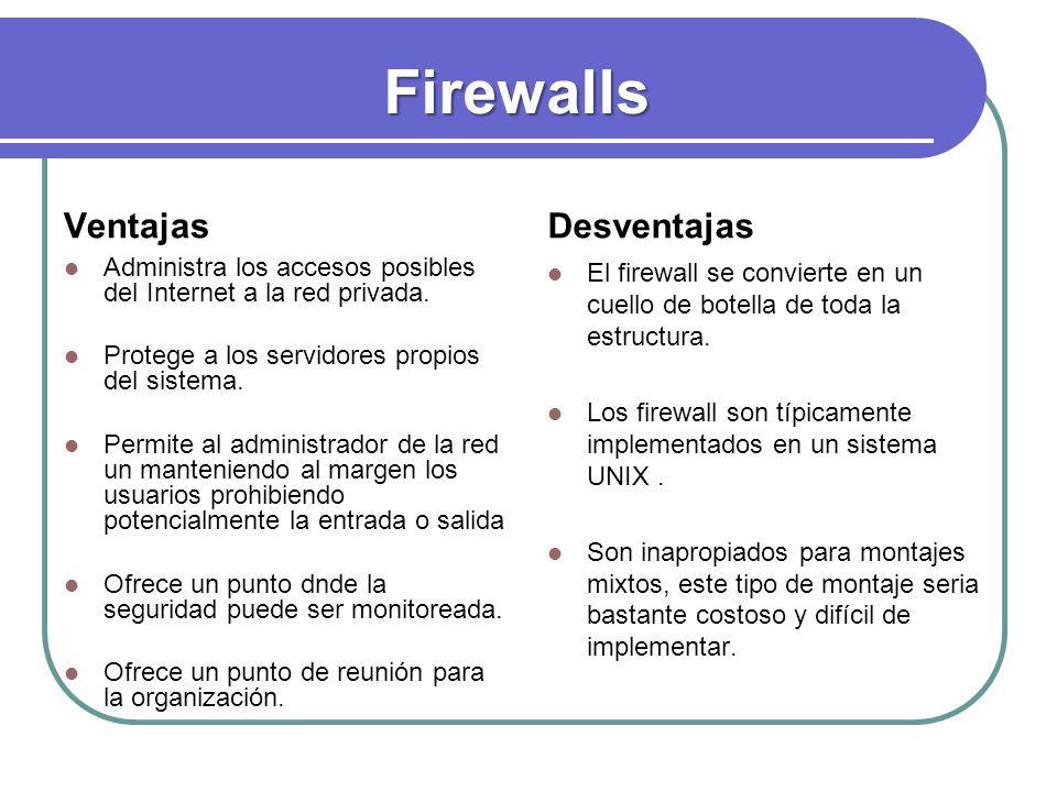 Firewalls Ventajas Desventajas