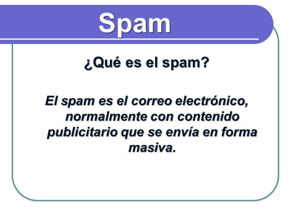 Spam ¿Qué es el spam.