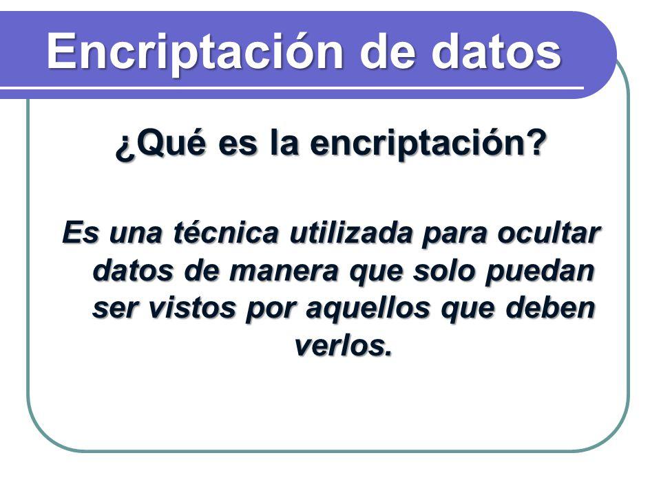 ¿Qué es la encriptación