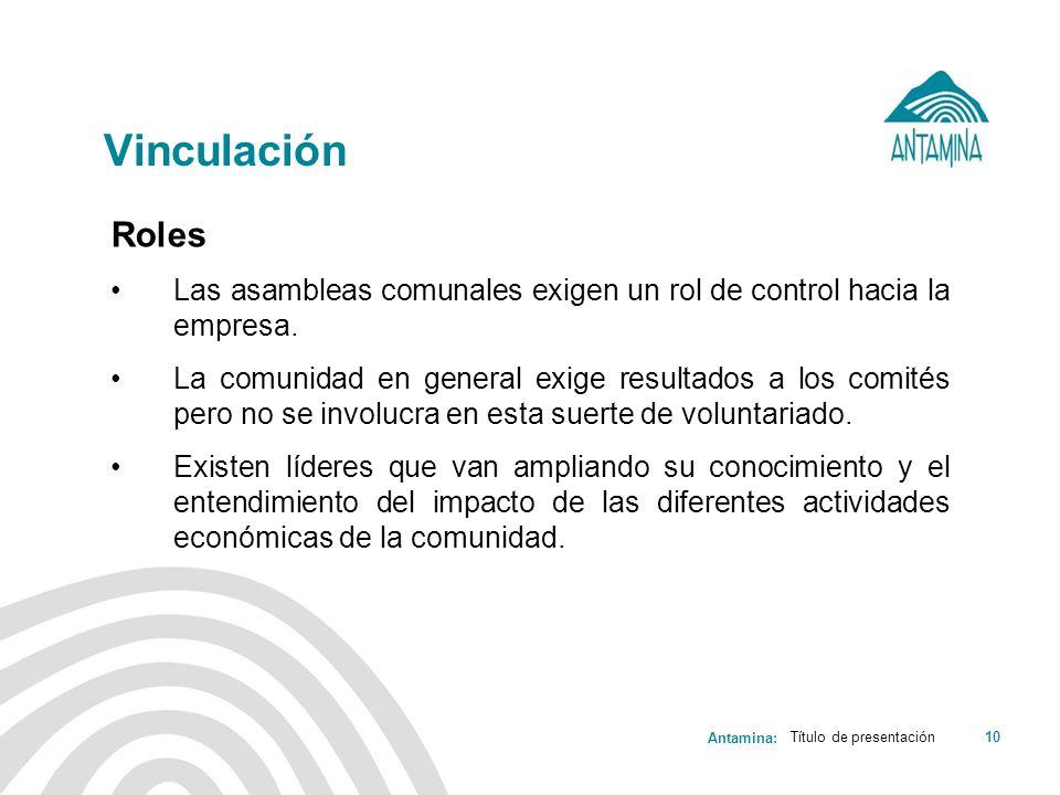 VinculaciónRoles. Las asambleas comunales exigen un rol de control hacia la empresa.
