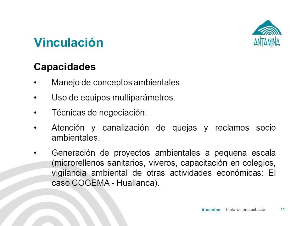 Vinculación Capacidades Manejo de conceptos ambientales.