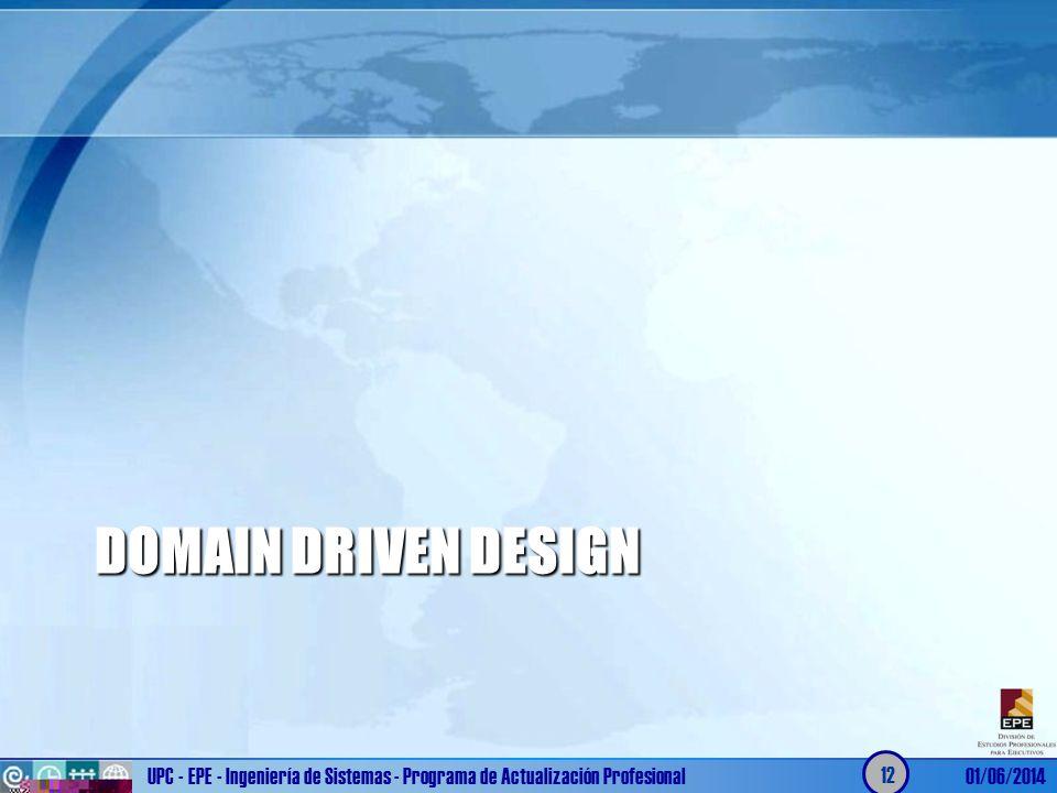 Domain Driven Design UPC - EPE - Ingeniería de Sistemas - Programa de Actualización Profesional.
