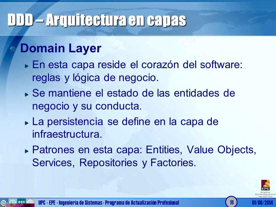 DDD – Arquitectura en capas