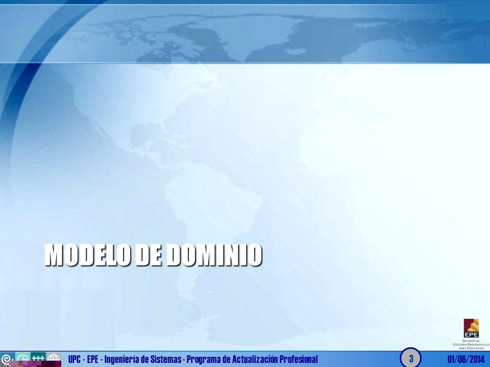 Modelo de dominio UPC - EPE - Ingeniería de Sistemas - Programa de Actualización Profesional.