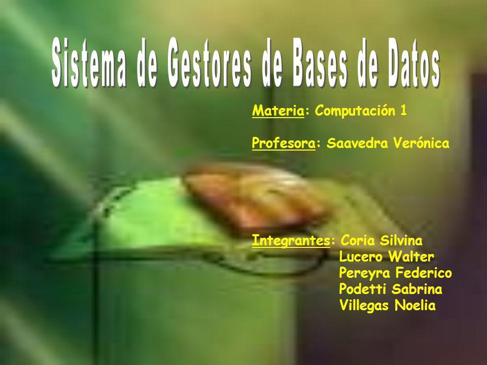 Sistema de Gestores de Bases de Datos