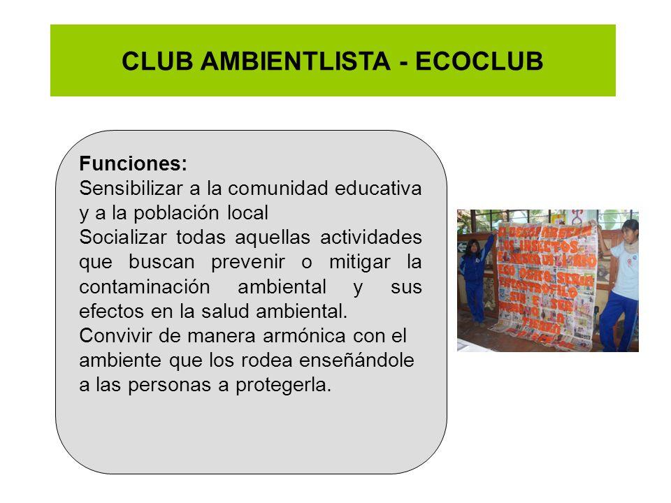 CLUB AMBIENTLISTA - ECOCLUB
