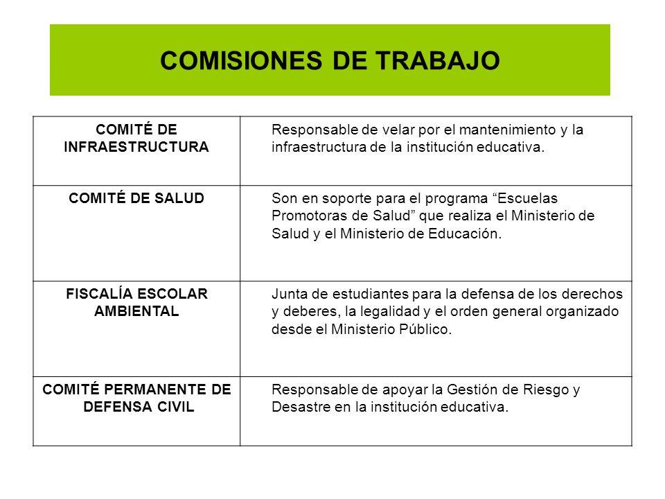 COMISIONES DE TRABAJO COMITÉ DE INFRAESTRUCTURA
