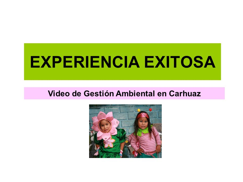 Video de Gestión Ambiental en Carhuaz