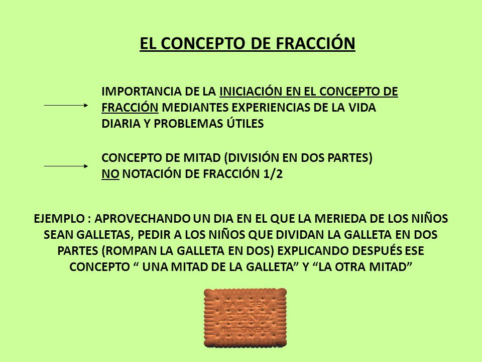 EL CONCEPTO DE FRACCIÓN
