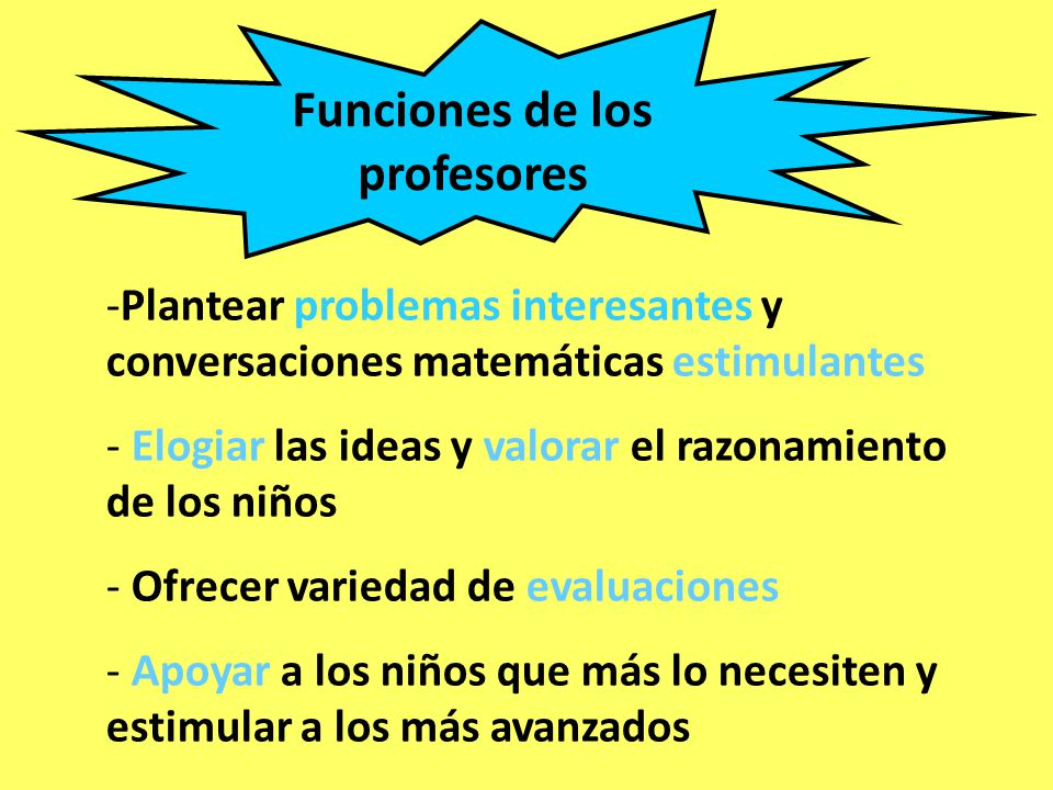 Funciones de los profesores