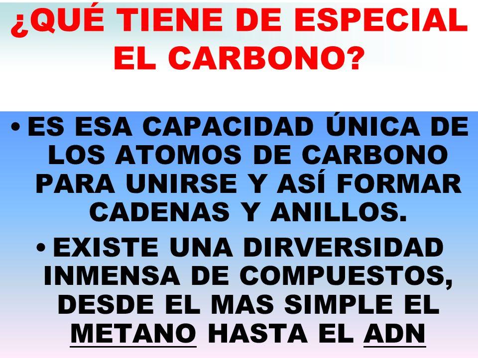 ¿QUÉ TIENE DE ESPECIAL EL CARBONO