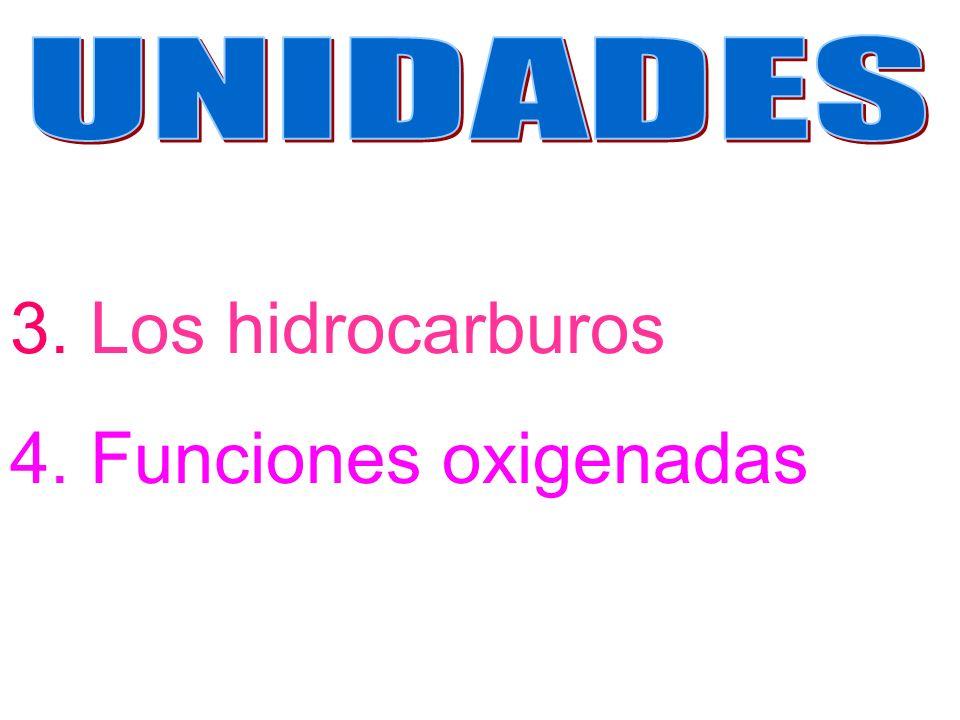 UNIDADES 3. Los hidrocarburos 4. Funciones oxigenadas
