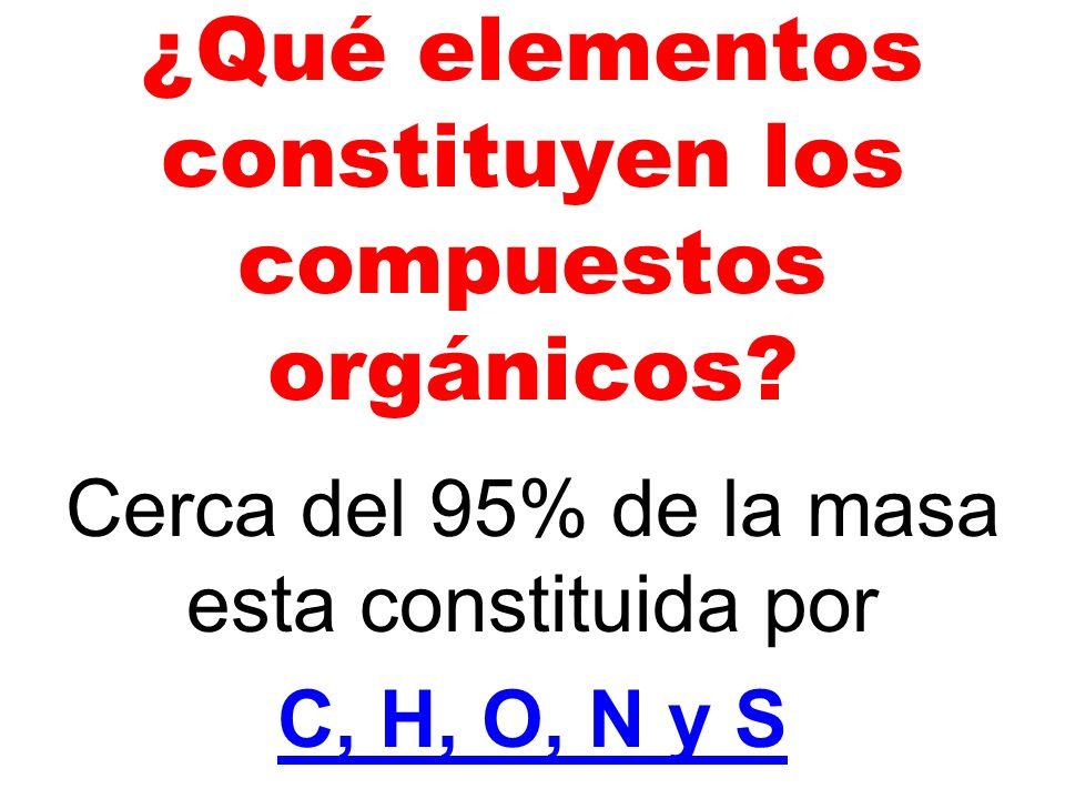 ¿Qué elementos constituyen los compuestos orgánicos