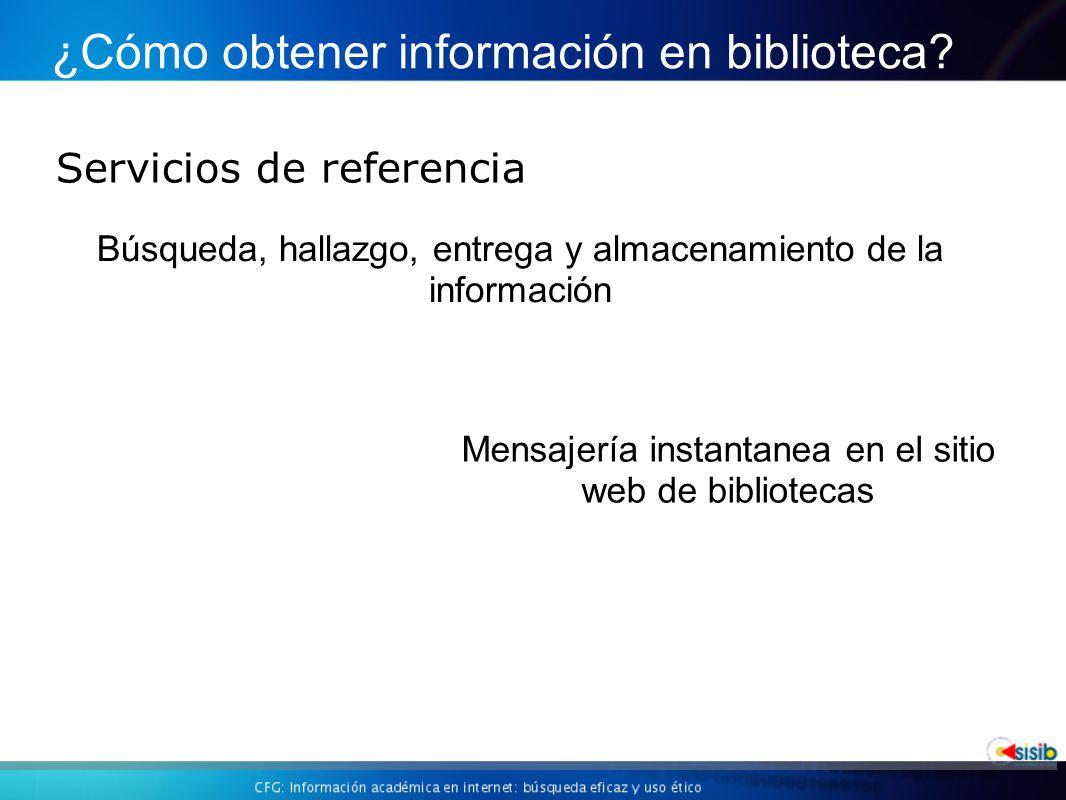 ¿Cómo obtener información en biblioteca