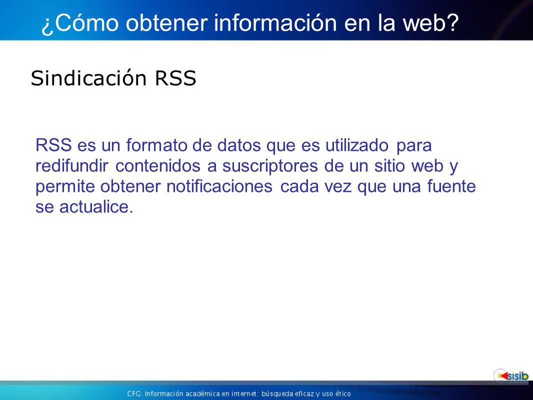 ¿Cómo obtener información en la web
