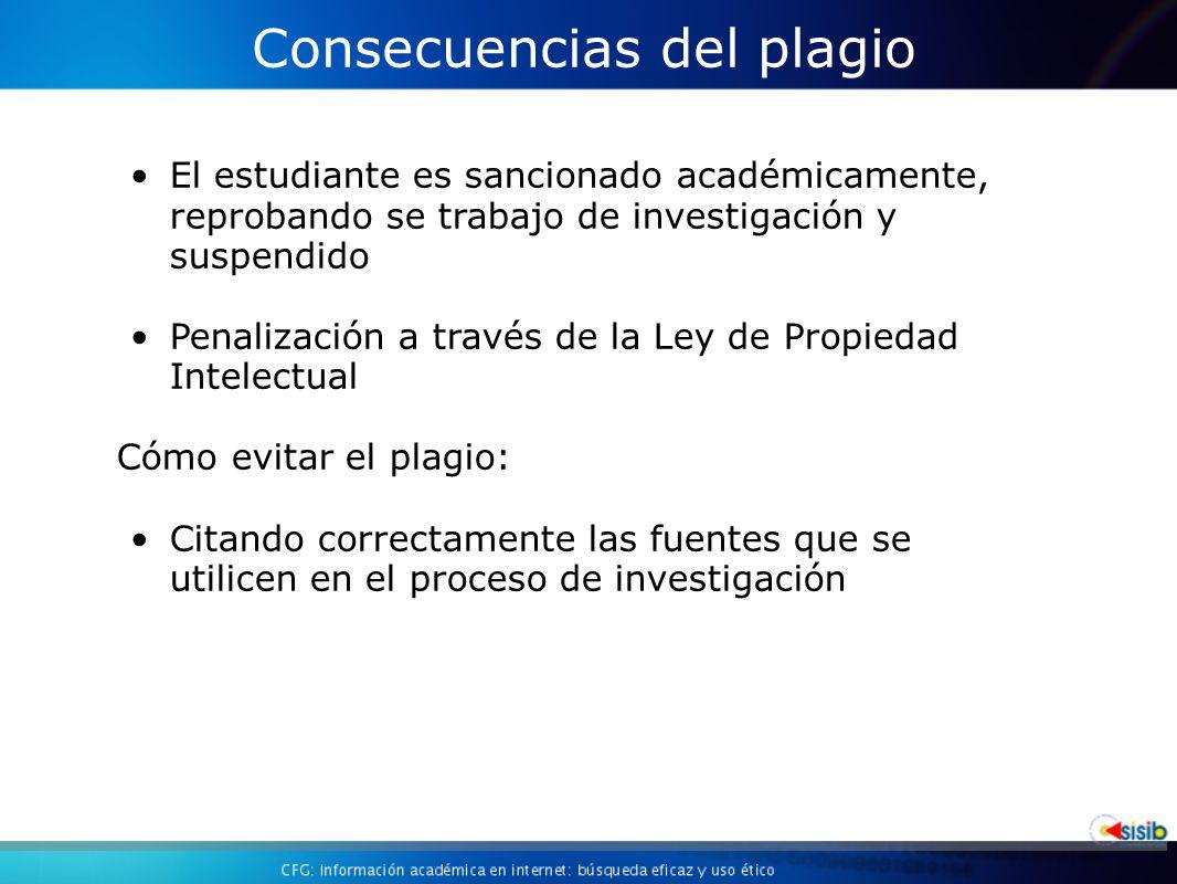 Consecuencias del plagio