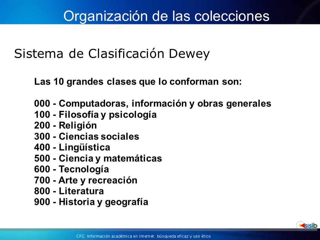 Organización de las colecciones