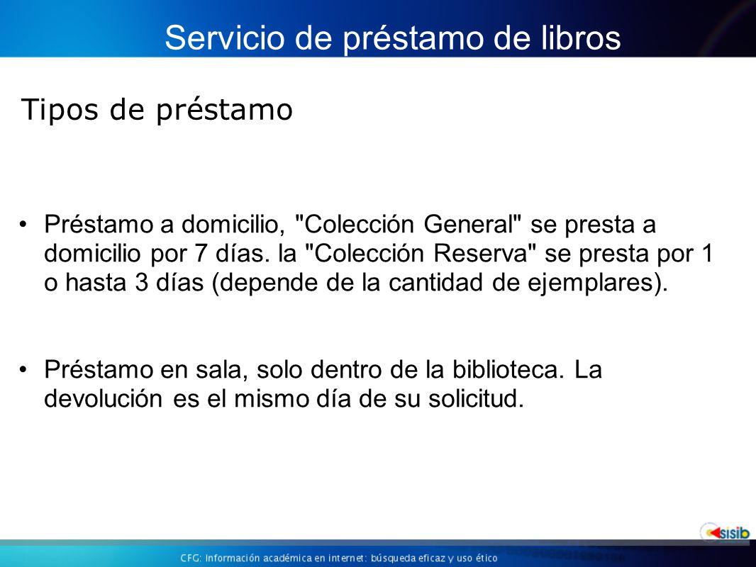 Servicio de préstamo de libros