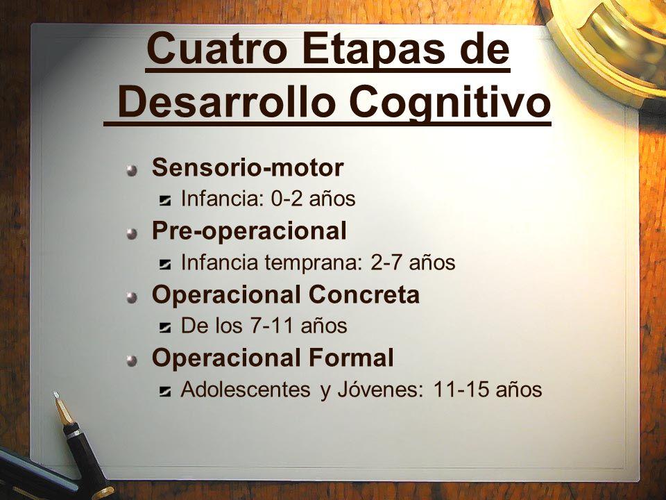 Cuatro Etapas de Desarrollo Cognitivo