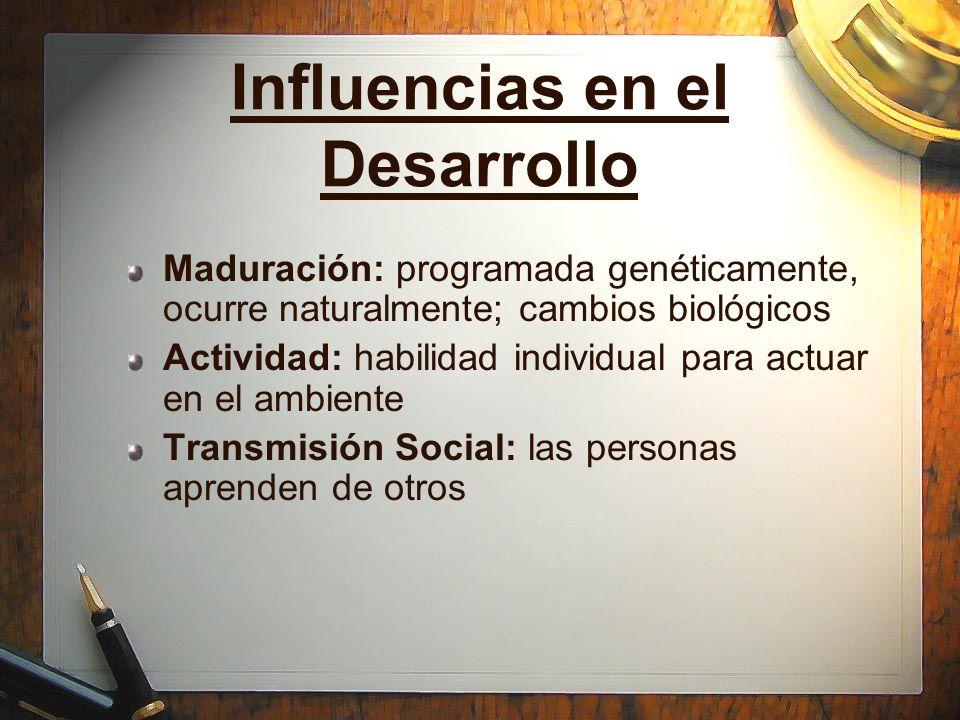 Influencias en el Desarrollo